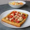 Recipe: Goat Cheese, Pesto, Tomato Tart